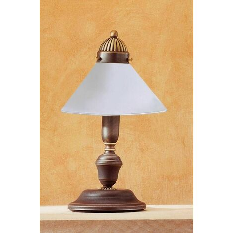 NONNA antique brass glass table lamp 1 light