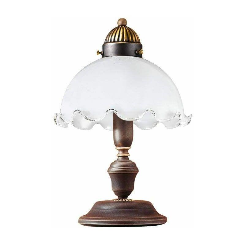 Image of 14-kolarz - NONNA antique brass glass table lamp