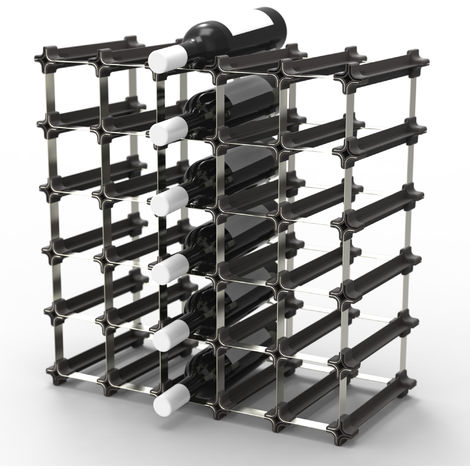 NOOK Botellero de vino Kit mediano 25 - Estante de vino con sistema modular - práctico sistema botellero