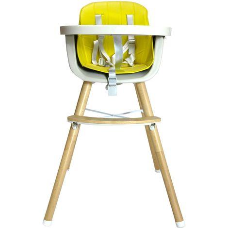 NOOMI Chaise haute bébé scandinave 2 en 1