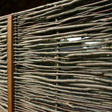 Noor Haselnusszaun Sichtschutz Zaun aus 100% Haselnuss ca.Größe (HxB) 180 x 115 cm