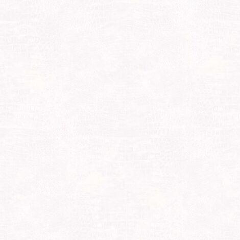 Noordwand Papel pintado Croco blanco