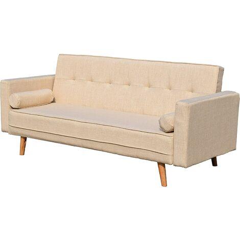 NORA 3-Seater Fabric Sofa Bed Sleeper Sofa with Cushions