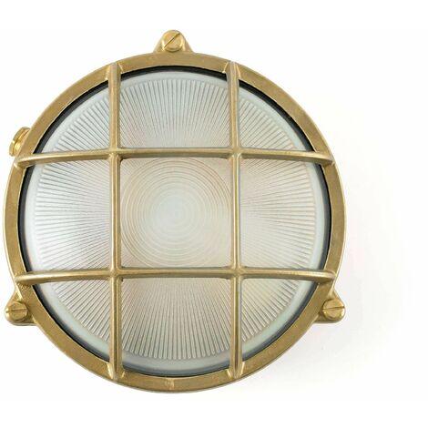 Noray 1-light brass garden wall light