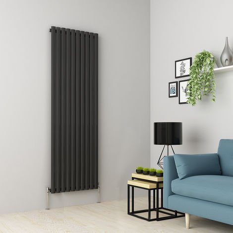 Norden 1800 x 591mm Anthracite Single Oval Tube Vertical Radiator