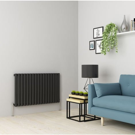 Norden 600 x 1004mm Anthracite Single Oval Tube Horizontal Radiator