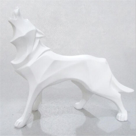 Nordic Animal Statue Wolf Ornament Sculpture Figure Standing Interior Decor