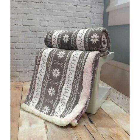 Nordic Grey Decorative Throw Throwover Blanket Soft Fleece 130 x 160cm New