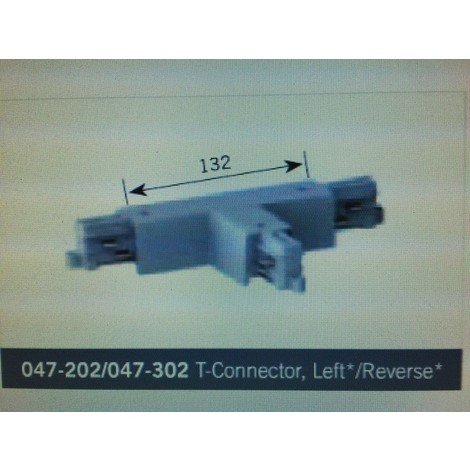 NORDIC LIGHT 047-202 - Raccord T Revers Gauche pour Rail Luminaire BLANC