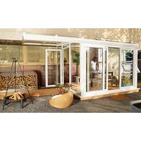 Nordic Wintergarten Sol 15000 Kunststoff weiß / opal 300x300cm links