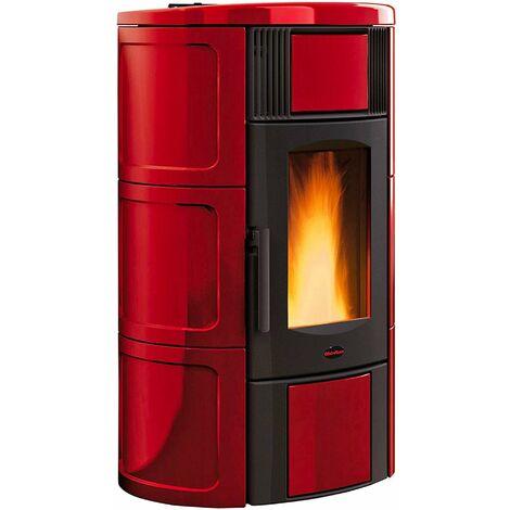 NORDICA EXTRAFLAME Thermopoêle à granulés ventilé 19 kW bordeaux Iside