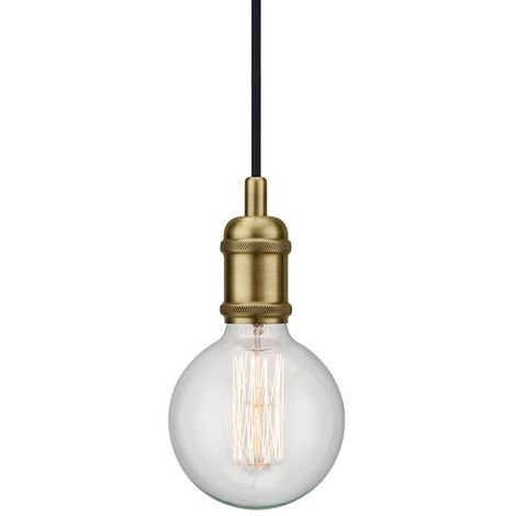 Nordlux Avra 84800025 Pendelleuchte LED E27 60W Messing S563331