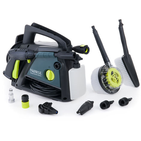 Norse SK90 - 131 Bar, 1900 psi Electric Pressure Washer / Patio Power Jet Cleaner - Car, Bike, Garden