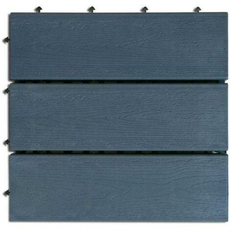 Nortene Compos losetas con base plástica 30x30 cm gris