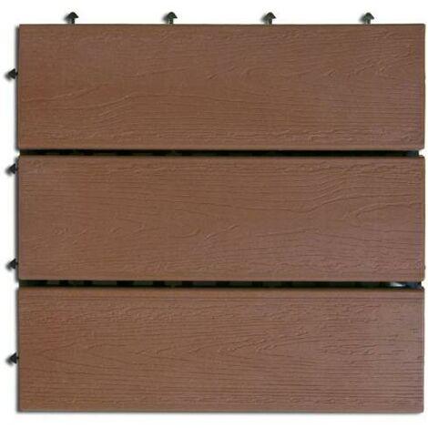 Nortene Compos losetas con base plástica 30x30 cm marrón claro