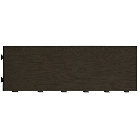 Nortene Terrangle loseta sin base plástica 20x60 cm marrón oscuro