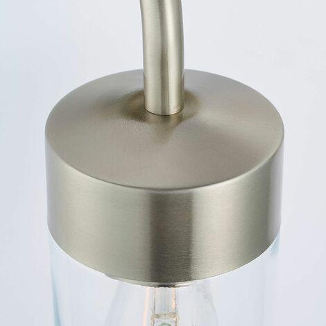 North outdoor wall light Stainless steel and glass