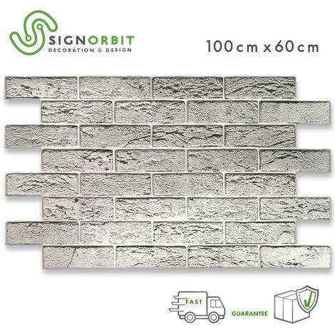 North Stone - Pannelli parete in ABS finta pietra effetto 3D 100x60cm x 0.6mm | 1 PANNELLO - 0,60 mq