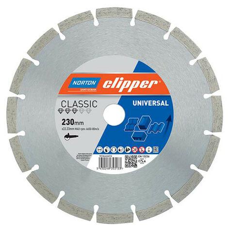 Norton Clipper CLI626810 Classic Universal Blue Diamond Blade 230 x 22.23mm