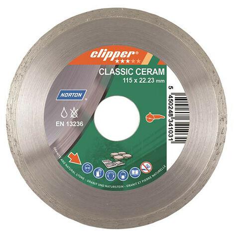 Norton Clipper CLI626825 Classic Ceramic Diamond Blade 115 x 22.23mm