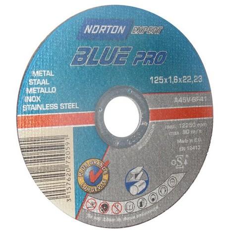 NORTON - Disque à tronçonner - Blue Pro - métal - 125x1.6 mm