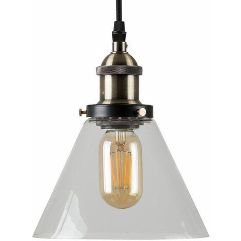 Norton Industrial Ceiling Light - No Bulb - Black