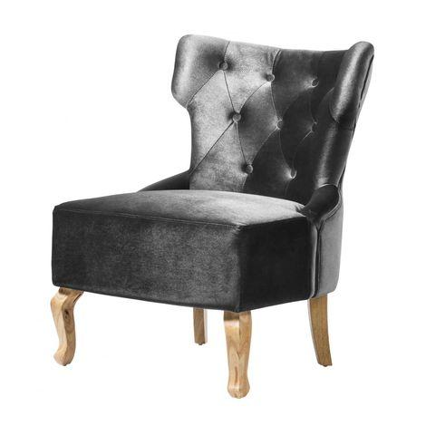 Norton Velvet Chair Grey