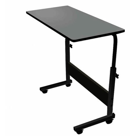 Notebook Desk Adjustable Laptop Table Black (71-91)x60x40cm