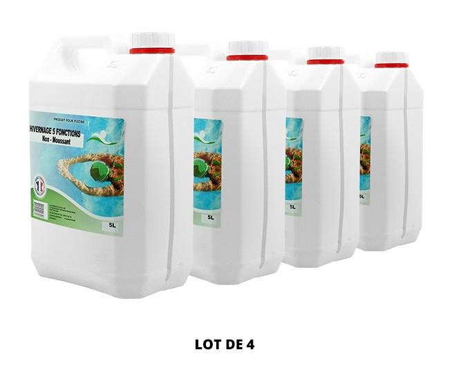 Hivernage 5 fonctions non moussant - 4x5L de Swimmer - Hivernage piscine