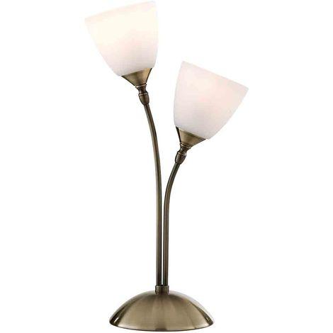 NOTTINGHAM TABLE LAMP ANTIQUE BRASS