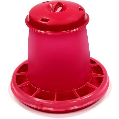 Nourrisseur à trémie en PVC 1.5 litres - Rose