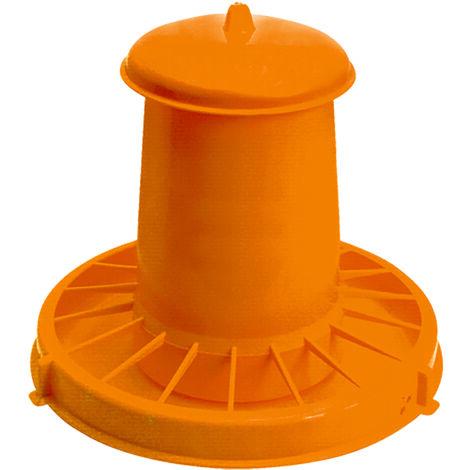 Nourrisseur à trémie orange WIN, 18 kg