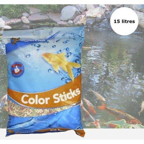 Nourriture Mix en stick 15 L pour kois : bassin et d'étangs