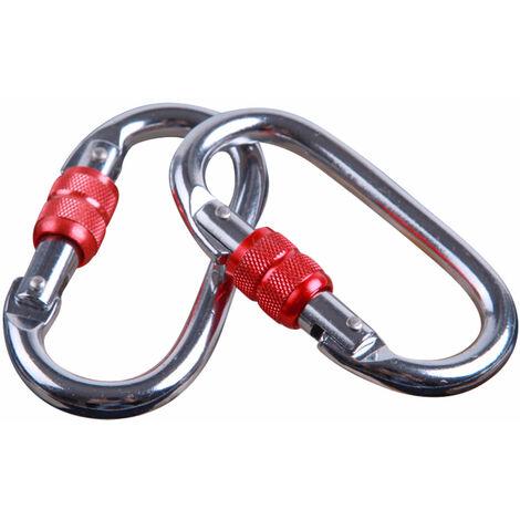 Nouveau 2pcs Mousqueton à Verrouillage Twist des Clips, retient 1200kg, Mousquetons en Aluminium à Verrouillage Automatique, pour Les Hamacs, Porte-clés, Chiens de Serrure