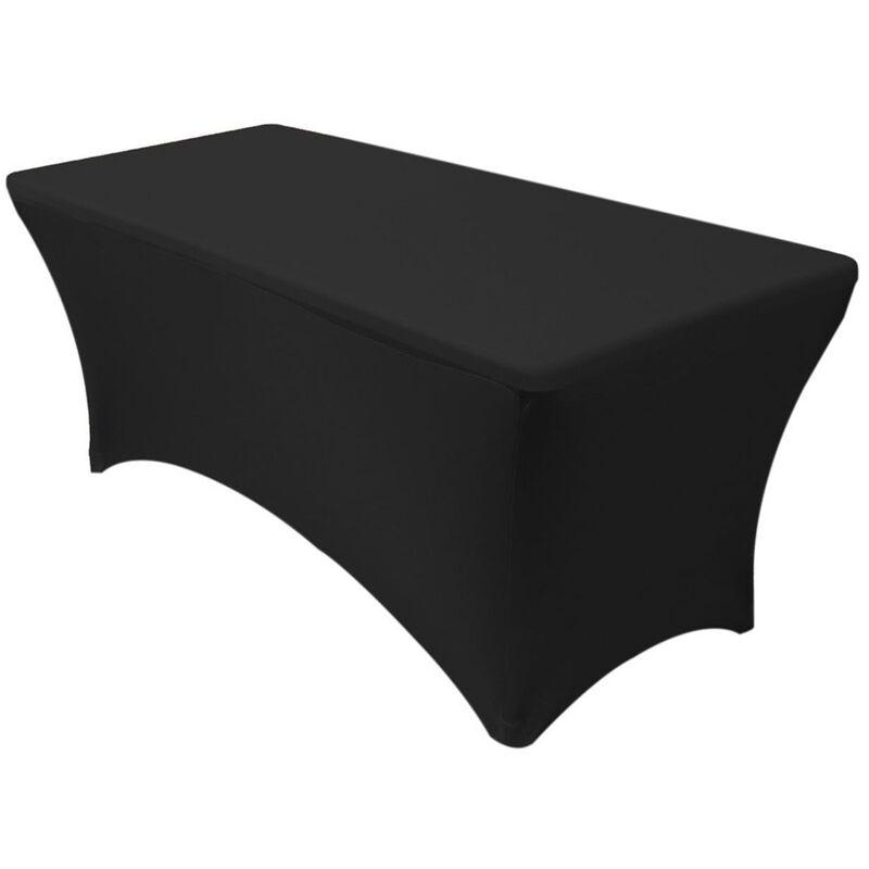 Manta - 183*76*76CM Couverture de Table noir rectangulaire Spandex Lycra Stretch nappe ajustée