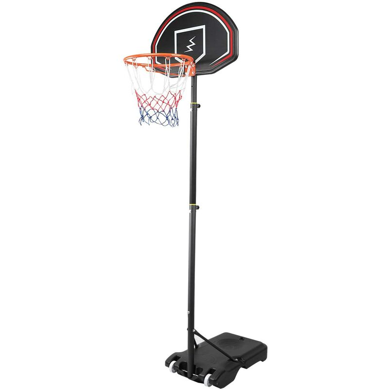 NOUVEAU Panier de basket sur pied hauteur r??glable 1,6M-2,1M pour enfant
