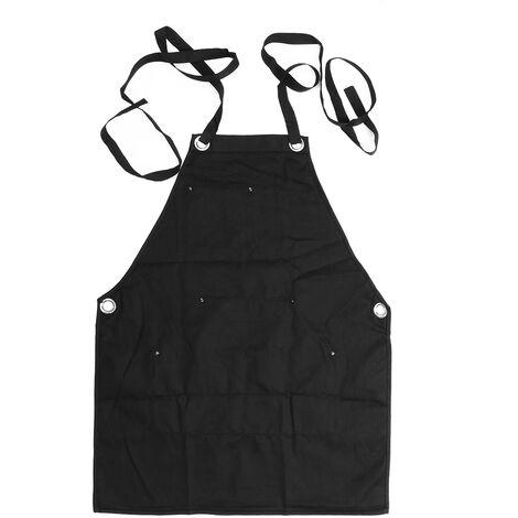 Nouveau tablier à sangle réglable à la mode Barista Barman BBQ Chef Uniforme Travail du bois Jardinage Vêtements de travail Convient S à XXL