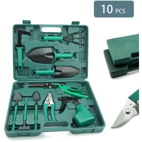 Nouvel ensemble d'outils de jardinage de dix pieces, ustensiles de jardin, pelle, pelle, pelle, ciseaux, dix pieces de jardinage