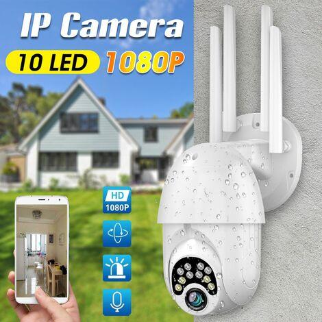 Nouvelle caméra IP PTZ extérieure HD 1080P 10 LED à quatre antennes améliorée, alarme vocale bidirectionnelle, caméra Wifi, Surveillance de Vision nocturne étanche automatique