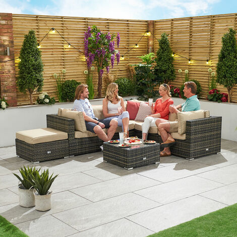Super Nova Garden Furniture Grey Flat Weave Rattan Chelsea Outdoor Ncnpc Chair Design For Home Ncnpcorg