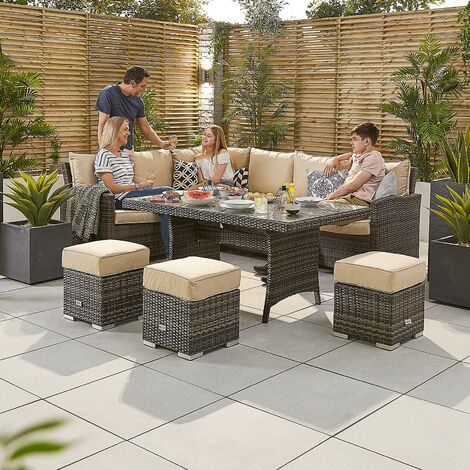 Nova Rattan Garden Furniture Cambridge Left Arm Outdoor Corner