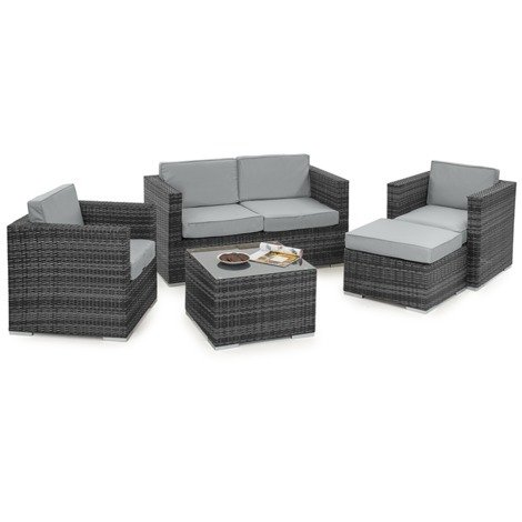 3659c910fc0 Nova Rattan Garden Furniture Lyon 2 Seater Outdoor Patio Sofa   Armchair Set  (Various Colours)
