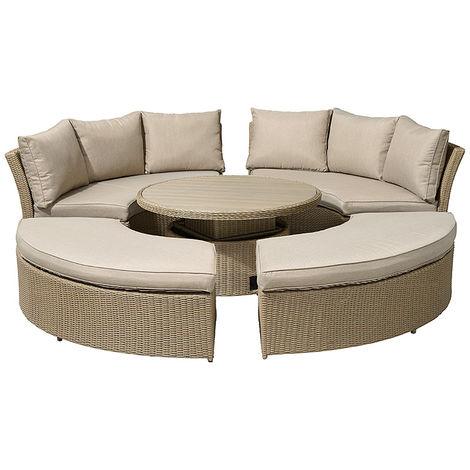 Awe Inspiring Nova Windsor Outdoor Rattan Round Set Garden Sofa Daybed Ncnpc Chair Design For Home Ncnpcorg