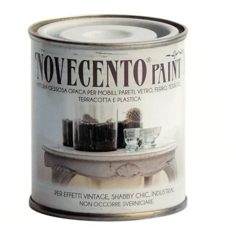 "main image of ""Pittura Gessosa Opaca Shabby Chic per Mobili Pareti Vetro Gesso Novecento Paint"""