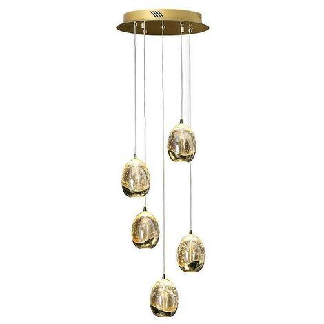 Novedad lámparas modernas ROCIO DIMABLE 5 luces oro