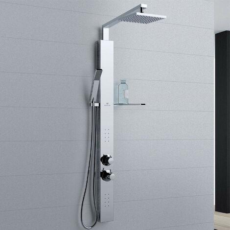 Novellini - Colonne de douche en inox avec mitigeur mécanique 10 x H 118 cm - REVIF PLUS