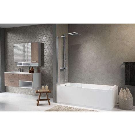 Novellini Pare-baignoire 85x150 cm Aurora 5 avec panneau fixe   85x150cm