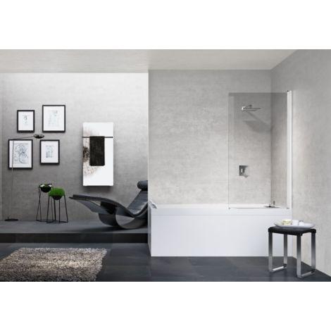 Novellini Pare-baignoire 90x150 cm Young 1V avec porte pivotante à 180°   90x150cm