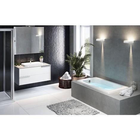 Novellini vasca da bagno ad incasso rettangolare serie baby bianco con sedile integrato - Vasche da bagno retro ...