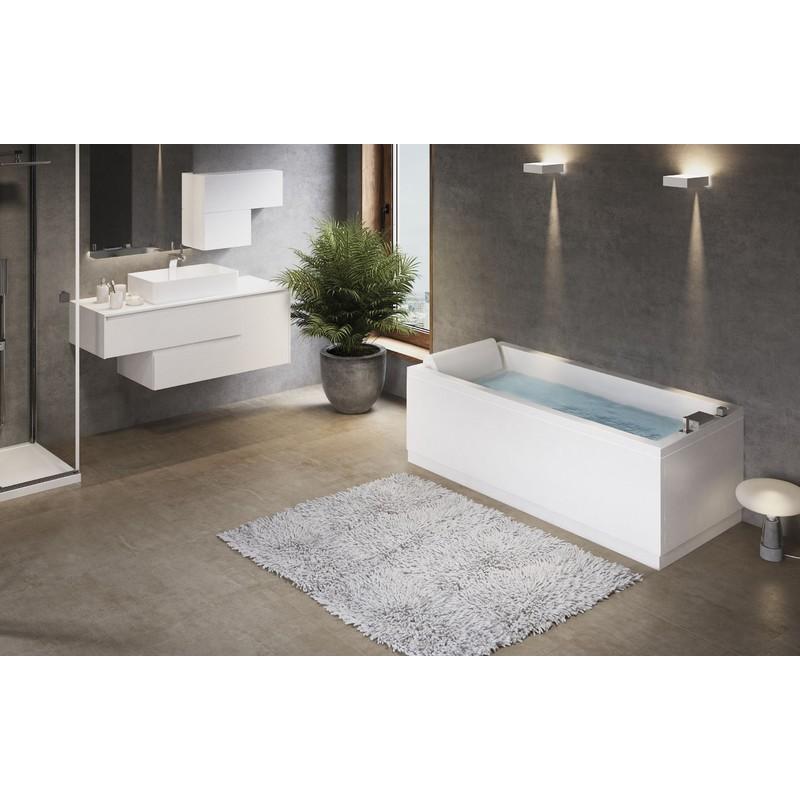 Novellini vasca da bagno rettangolare serie calos con for Vasche x laghetti